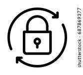 lock reload  | Shutterstock .eps vector #687869377