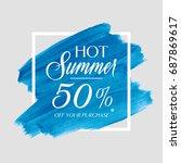 hot summer sale 50  off sign... | Shutterstock .eps vector #687869617