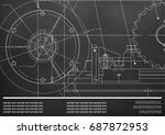 vector drawing. mechanical... | Shutterstock .eps vector #687872953