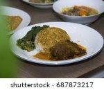 Nasi Rendang  Spicy Meat   Ric...
