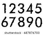 set of grunge numbers.vector...   Shutterstock .eps vector #687876703