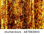beads from the baltic amber... | Shutterstock . vector #687883843
