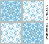 tiles seamless collection ...   Shutterstock .eps vector #687885277