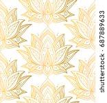 indian seamless pattern... | Shutterstock .eps vector #687889633