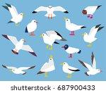 vector set of beautiful... | Shutterstock .eps vector #687900433