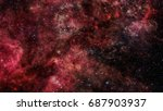 galaxy in outer space. elements ... | Shutterstock . vector #687903937