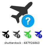 airplane status flat vector... | Shutterstock .eps vector #687926863