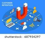 customer retention or loyalty... | Shutterstock .eps vector #687934297