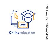 educational resources vector... | Shutterstock .eps vector #687951463