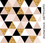 abstract seamless geometric... | Shutterstock .eps vector #687951493