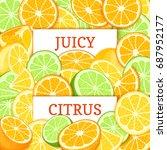two white rectangle label on... | Shutterstock .eps vector #687952177
