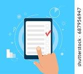 survey research. make a choice... | Shutterstock . vector #687956947