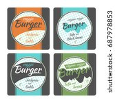 vector vegan burger package... | Shutterstock .eps vector #687978853