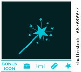 magic wand icon flat. simple... | Shutterstock . vector #687989977