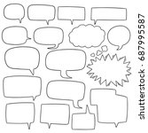 vector set of speech bubbles | Shutterstock .eps vector #687995587