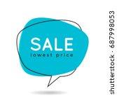 minimal style flat speech... | Shutterstock .eps vector #687998053