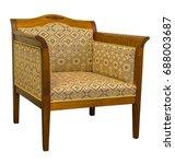 vintage antique art deco sofa...   Shutterstock . vector #688003687