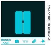 wardrobe or cupboard icon flat. ... | Shutterstock . vector #688004437