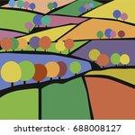 Vektor Illustration Of Village...