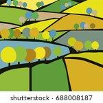 Vector Illustration Of Village...