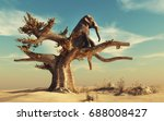Elephant In A Dry Tree In...