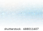 light blue  green vector banner ... | Shutterstock .eps vector #688011607