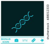 dna icon flat. simple blue... | Shutterstock . vector #688012333