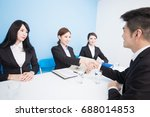 business people with interview... | Shutterstock . vector #688014853