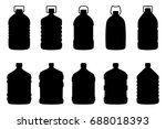 set of silhouettes of big water ... | Shutterstock .eps vector #688018393
