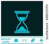 hourglass icon flat. simple... | Shutterstock . vector #688019293