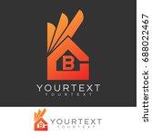 ok home initial letter b logo... | Shutterstock .eps vector #688022467