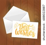vector greeting card with... | Shutterstock .eps vector #688022887