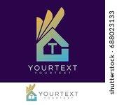 ok home initial letter t logo... | Shutterstock .eps vector #688023133