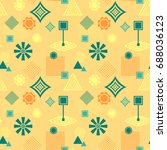 abstract seamless pattern from... | Shutterstock .eps vector #688036123