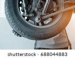 focus in hand changing tyre of...   Shutterstock . vector #688044883