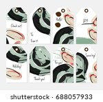 hand drawn creative tags.... | Shutterstock .eps vector #688057933