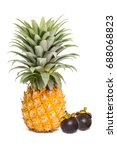 close up of ripe pineapple ... | Shutterstock . vector #688068823