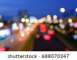 de focused night street lights  ... | Shutterstock . vector #688070347