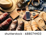 shoes for men various styles... | Shutterstock . vector #688074403
