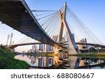 sao paulo landmark skyline  ... | Shutterstock . vector #688080667