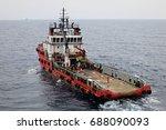 supply boat transfer cargo to... | Shutterstock . vector #688090093