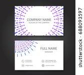 business card  vector | Shutterstock .eps vector #688093597