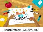 vector illustration  table top... | Shutterstock .eps vector #688098487