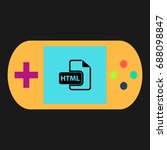 html simple vector icon....