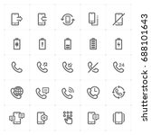 mini icon set   phone and... | Shutterstock .eps vector #688101643