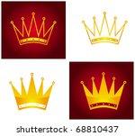 golden crown  abstract... | Shutterstock . vector #68810437