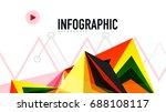 modern triangle presentation... | Shutterstock .eps vector #688108117
