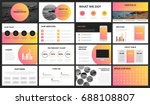 modern orange and yellow... | Shutterstock .eps vector #688108807