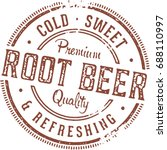 vintage root beer stamp sign | Shutterstock .eps vector #688110997