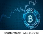 bitcoin symbol and price chart... | Shutterstock .eps vector #688113943
